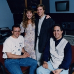 Recording 'Songs for Guideposts Junction' with actress and voice-over artist, Jodi Benson. Also seen, husband (and actor) Ray Benson, and engineer, David Schober.